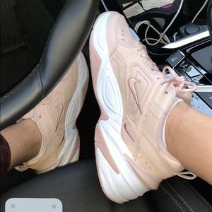Chunky light pink nike sneakers